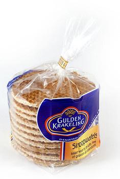 Gulden Krakeling Gulden Krakeling - stroopwafels a10 325gr - 12 zakken