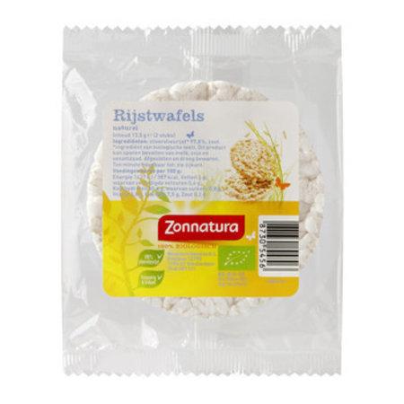 Zonnatura Zonnatura - rijstwafels naturel 15g - 12 pakken