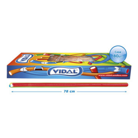 Vidal Vidal - Vidal Xxl Kabel Rainbow, 80 Stuks