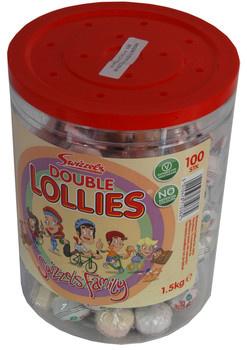 Copar Copar - Double Lollies Silo, 100 Stuks