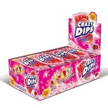Chupa Chups - crazydips strawb - 24 stuks