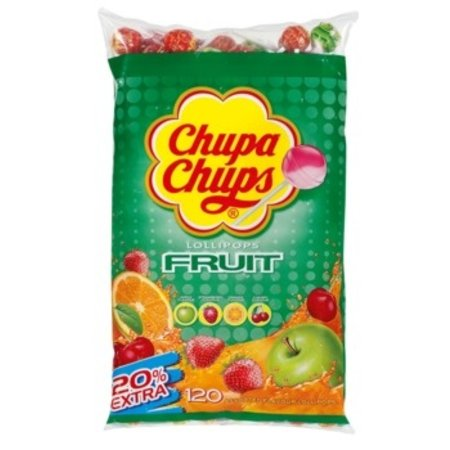 Chupa Chups Chupa Chups - Chupa Chups Zak Fruit 100+20, 120 Stuks
