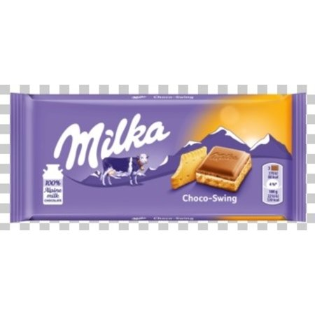 Milka Milka - Tablet 100G Choco Swing Bisc., 18 Repen