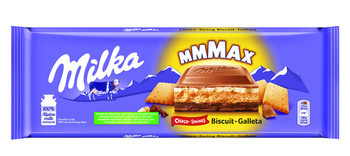 Milka Milka - Tablet 300Gr Choco & Biscuit, 12 Tabletten