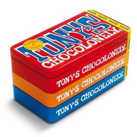 Tony's Chocolonely Tony'S Chocolonely - Tony'S Stapelblik 3X180G, 8 Blikken