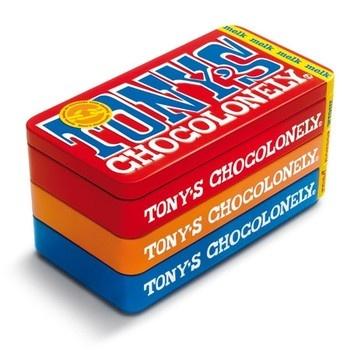Tony's Chocolonely Tony's Chocolonely - stapelblik 3x180g - 8 blikken