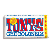 Tony's Chocolonely - 180g wit - 15 repen