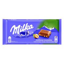Milka - gebroken noot 100g - 22 tabletten