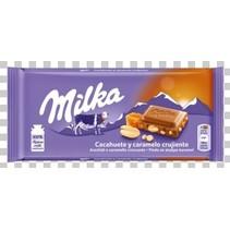 Milka - pinda caramel 90gr - 24 stuks
