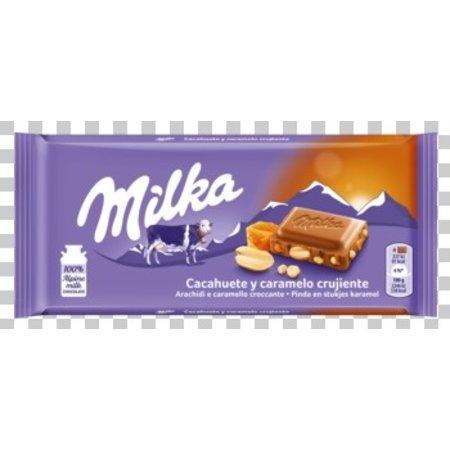 Milka Milka - pinda caramel 90gr - 24 stuks