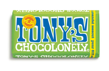Tony's Chocolonely Tony's Chocolonely - 180g puur amandel zeezout- 15 repen