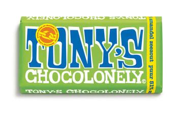 Tony's Chocolonely Tony'S Chocolonely - Reep 180G Puur Amandel Zeezout, 15 Repen