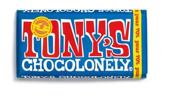 Tony's Chocolonely Tony'S Chocolonely - Reep 180G Puur, 15 Repen