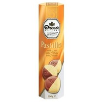 Droste - pastilles 100gr melk/wit - 12 kokers