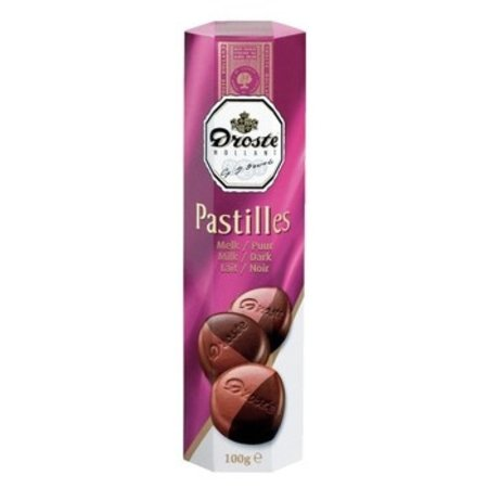 Droste Droste - pastilles 100gr melk/puur - 12 kokers
