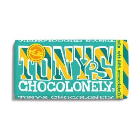 Tony's Chocolonely Tony'S Chocolonely - Reep 180Gr Wit Stracciatella, 15 Repen