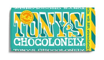 Tony's Chocolonely Tony's Chocolonely - 180gr wit stracciatella - 15 repen