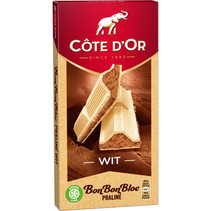 Cote D´or - bonbonbloc praline wit 200g - 15 tabletten