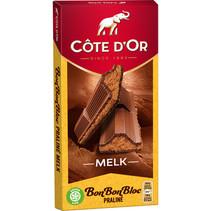 Cote D´or - bonbonbloc praline melk 200g - 15 tabletten