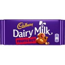 Cadbury - fruit & noot 110gr - 18 tabletten