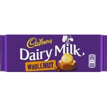 Cadbury - Cadbury Whole Nut 120Gr, 16 Tabletten
