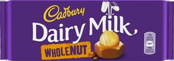 Cadbury Cadbury - Cadbury Whole Nut 120Gr, 16 Tabletten