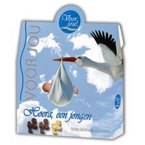 Voor Jou! - baby ooievaartjes - 6 geschenkverpakkenkingen