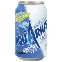 Aquarius - lemon 33cl blik - 24 blikken