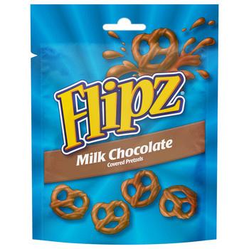 Flipz Flipz - chocolate pretzels milk - 6 zakken