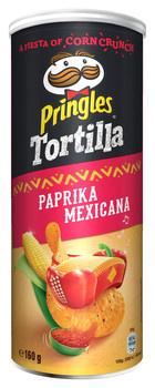 Pringles Pringles - tortilla paprika 160g - 9 kokers