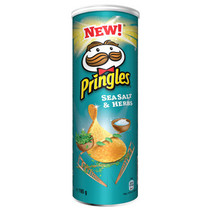 Pringles - sea salt & herbs 165g - 9 kokers