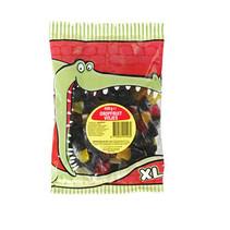Lekkerland - krokodilbaal dropfruit visjes - 12 zakken