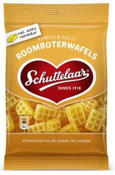 Schuttelaar Schuttelaar - roomboterwafels 160g - 18 zakken