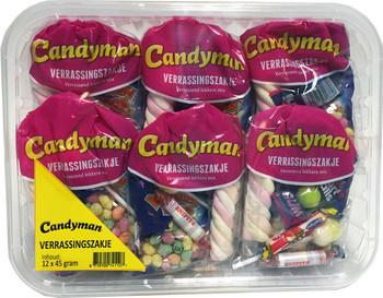 Candyman Candyman - verrassingszakje - 12 zakken