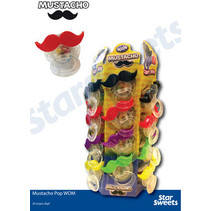 Candy - moustache pop - 24 stuks