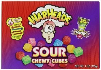 Warheads Warheads - Warheads Chewy Cubes Box, 12 Stuks
