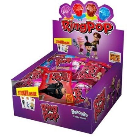 Bazooka Bazooka - ring pop - 24 stuks