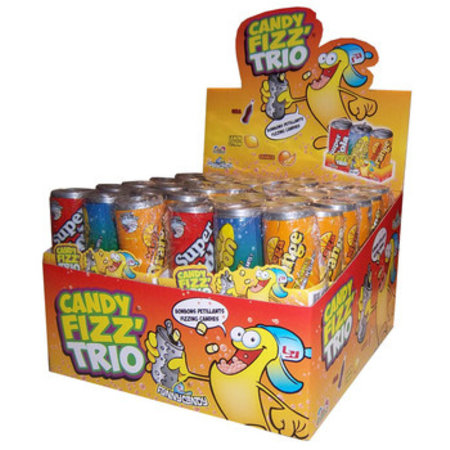 Funny Candy Funny Candy - Candy Fizz Trio, 24 Stuks