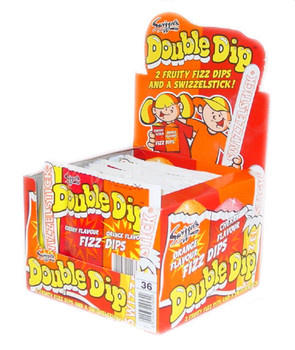 Swizzels Swizzels - double dip cherry/orange - 36 stuks