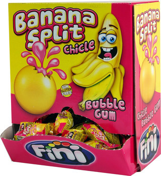 Fini Fini - liquid bananasplit gum 200st - 200 stuks
