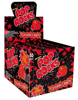 Pop Rocks Pop Rocks - Pop Rocks Strawberry, 50 Stuks