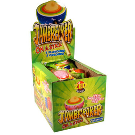 Zed Candy Zed Candy - Jawbreaker On A Stick, 15 Stuks