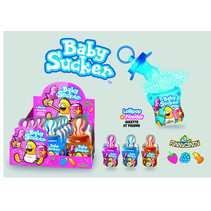 Candy Novelty Network - Baby Sucker 24G, 12 Stuks