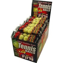 Fini - Tennisball Bubble Gum, 50 4 Pack