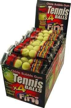 Fini Fini - Tennisball Bubble Gum, 50 4 Pack