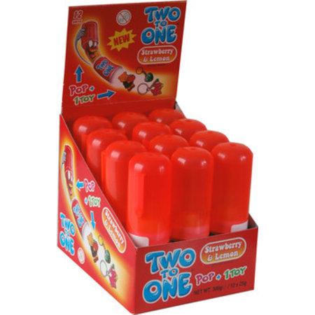 Two to One Two To One - Two To One Strawberry/Lemon, 12 Stuks