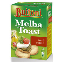 Buitoni - melba toast 100gr rond 24-pk - 24 pakken