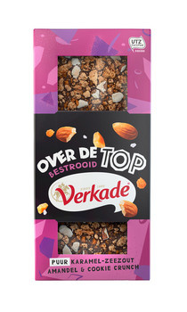 Verkade Verkade - over de top - puur karamel zeezout & cookie crunch 120 gram - 12 repen