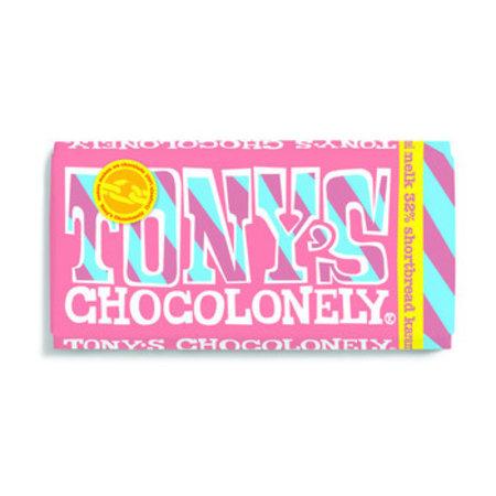 Tony's Chocolonely Tony's Chocolonely - melk shortbread karamel 180 gram - 15 repen