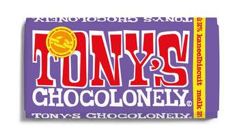 Tony's Chocolonely Tony's Chocolonely - melk kaneelbiscuit 180 gram - 15 repen